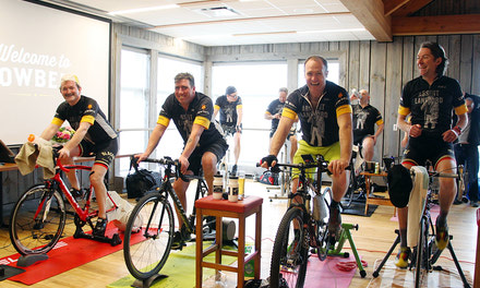 {Cowbell-sponsored cycling team raises $8,250 for MS Society through spin event - April 5, 2018}