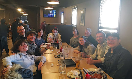 {'Wing Night at the Boot' research, writing process continues - April 26, 2018}